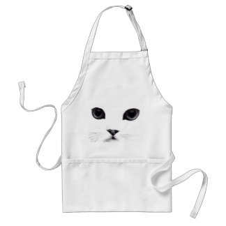 Cara del gatito delantal