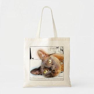 Cara del gato birmano bolsa tela barata