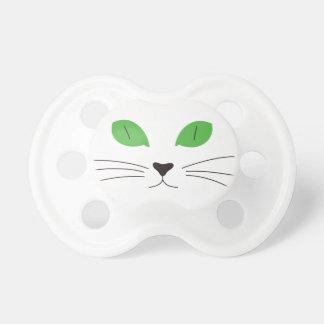 Cara del gato chupete de bebe
