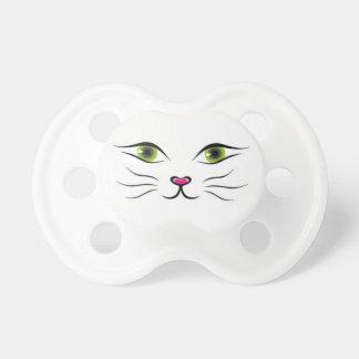 Cara del gato chupetes de bebe