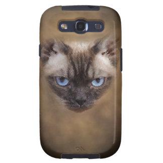 Cara del gato de Devon Rex Galaxy S3 Cárcasas