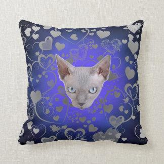 Cara del gato de Sphynx Cojín