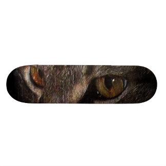 Cara del gato de Tabby del Grunge en sombra Patines Personalizados
