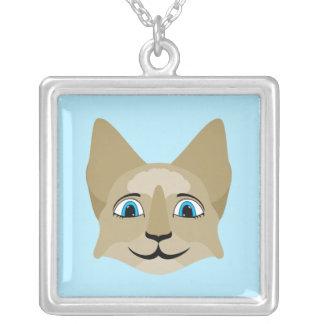 Cara del gato del animado con los ojos azules colgantes