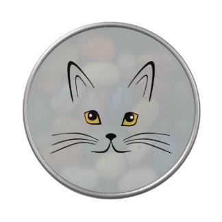 Cara del gato frascos de dulces
