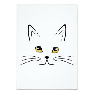 """Cara del gato invitación 5"""" x 7"""""""