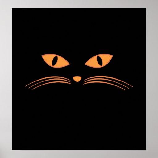 Cara del gato negro posters