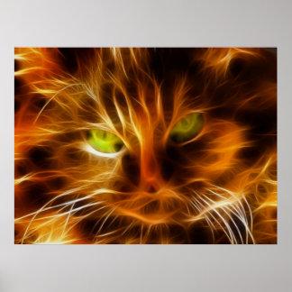 Cara del gato impresiones