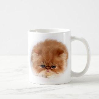 Cara del gato persa taza