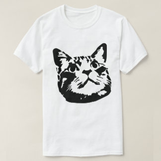 Cara del gato playera