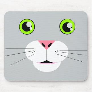 Cara del gato tapetes de ratón