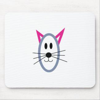 Cara del gato tapete de ratones