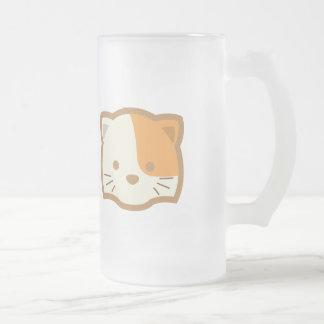 Cara del gato taza de cristal
