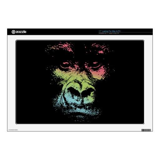 Cara del gorila - color calcomanías para 43,2cm portátiles