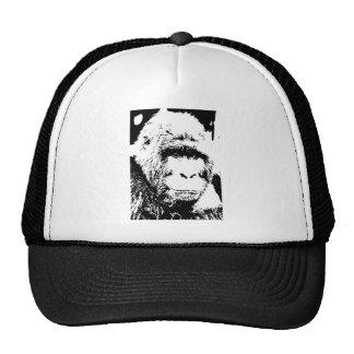 Cara del gorila de BW Gorras De Camionero
