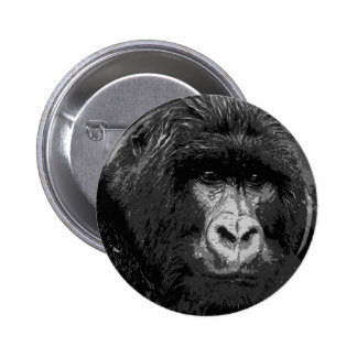 Cara del gorila de BW Pin Redondo De 2 Pulgadas