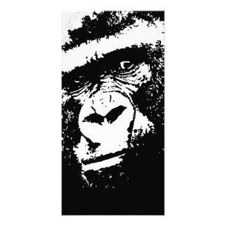 Cara del gorila de BW Tarjetas Fotograficas Personalizadas