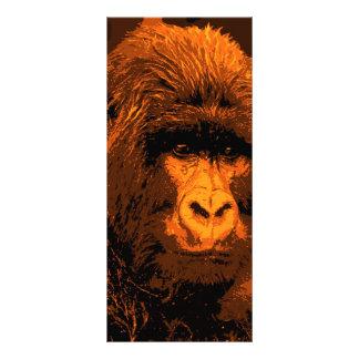 "Cara del gorila folleto publicitario 4"" x 9"""