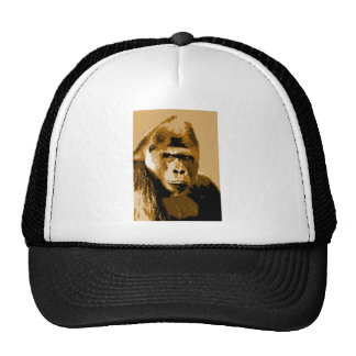 Cara del gorila gorro