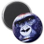 Cara del gorila imán de frigorifico