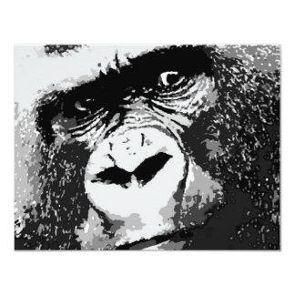 """Cara del gorila invitación 4.25"""" x 5.5"""""""