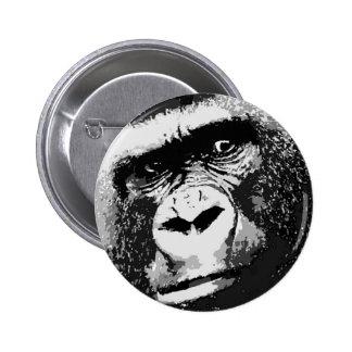 Cara del gorila pin redondo de 2 pulgadas
