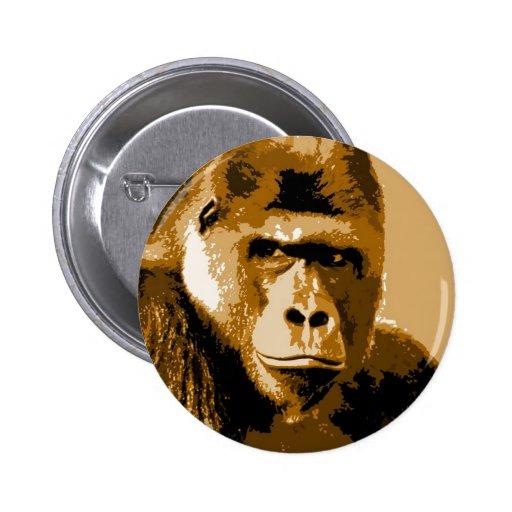 Cara del gorila pins