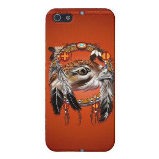 Cara del halcón de Dreamcatcher iPhone 5 Carcasas