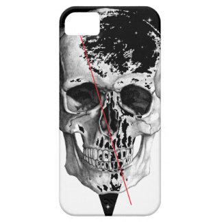 Cara del horror de la muerte del triángulo del iPhone 5 carcasa