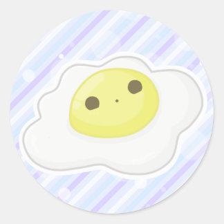 cara del huevo del O. o Pegatina Redonda