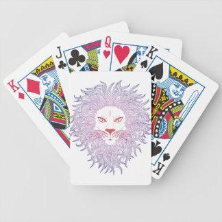 Cara del león barajas de cartas