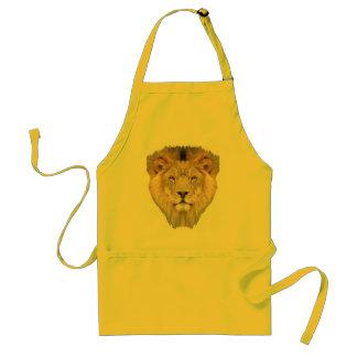 Cara del león delantal