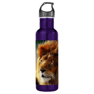 Cara del león. Rey de la abstracción de las Botella De Agua De Acero Inoxidable