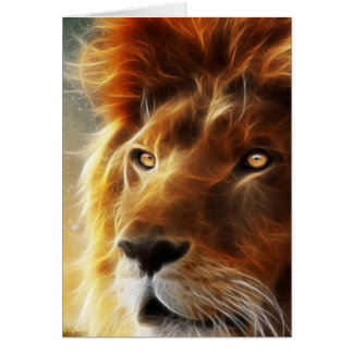 Cara del león. Rey de la abstracción de las Tarjeta Pequeña
