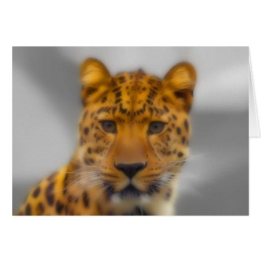 Cara del leopardo felicitación