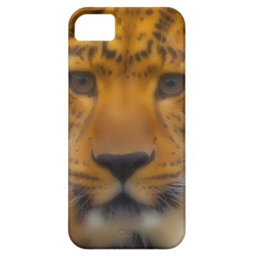 Cara del leopardo iPhone 5 carcasas