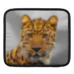 Cara del leopardo mangas de iPad