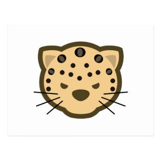 Cara del leopardo postales