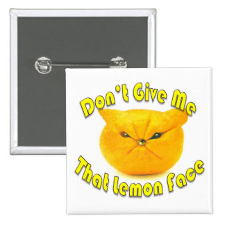 Cara del limón pin cuadrada 5 cm