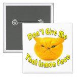 Cara del limón pins