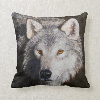 Cara del lobo cojin