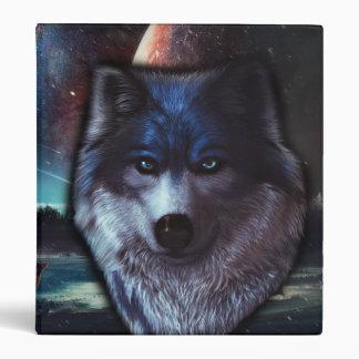 """Cara del lobo en el espacio, pintura azul del lobo carpeta 1"""""""