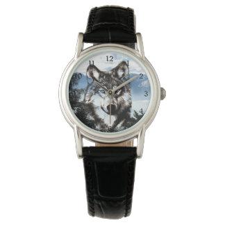 Cara del lobo relojes de mano
