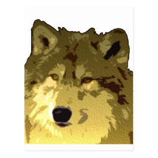 Cara del lobo postal