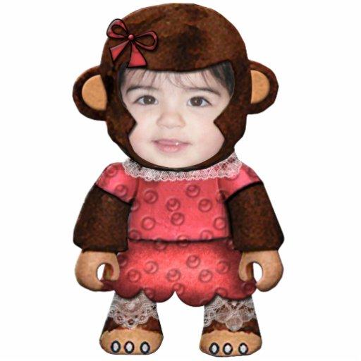 Cara del mono - chica fotoescultura vertical