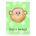 Cara del mono comunicado personalizado