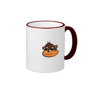 Cara del mono de Brown Taza A Dos Colores