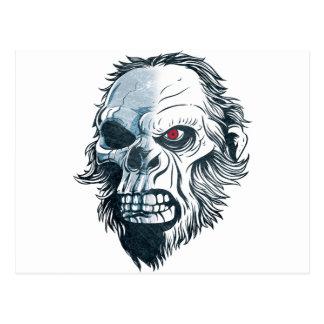 Cara del mono de la cabeza del cráneo del gorila postales