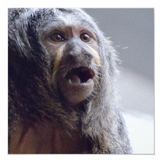 """Cara del mono de Saki Invitación 5.25"""" X 5.25"""""""
