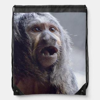 Cara del mono de Saki Mochila